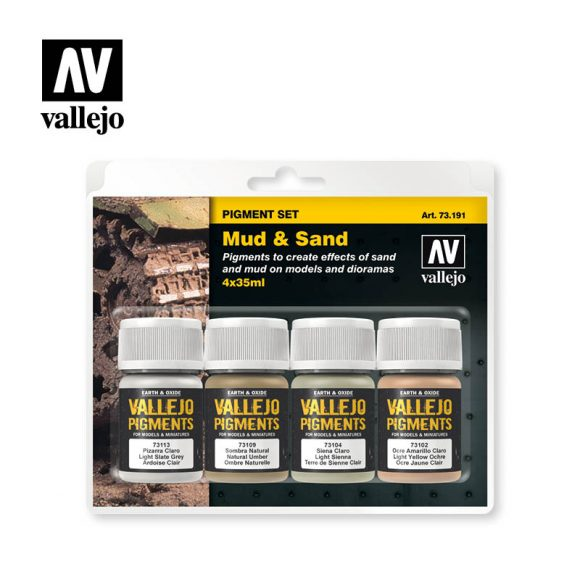 must and sand vallejo pigments set 73191