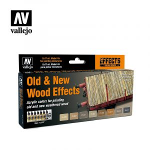 Old and new wood effects 71187 vallejo model air effects set