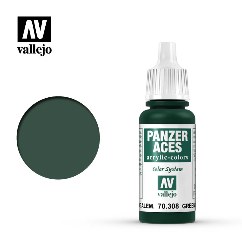 panzer aces vallejo green tail light german 70308