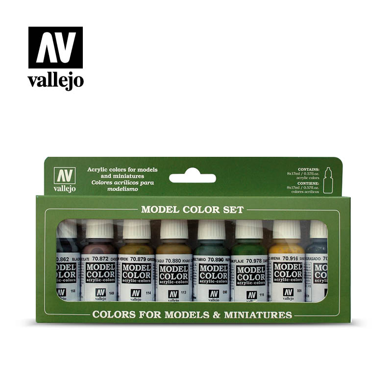 Panzer colors 70108 vallejo afv color set