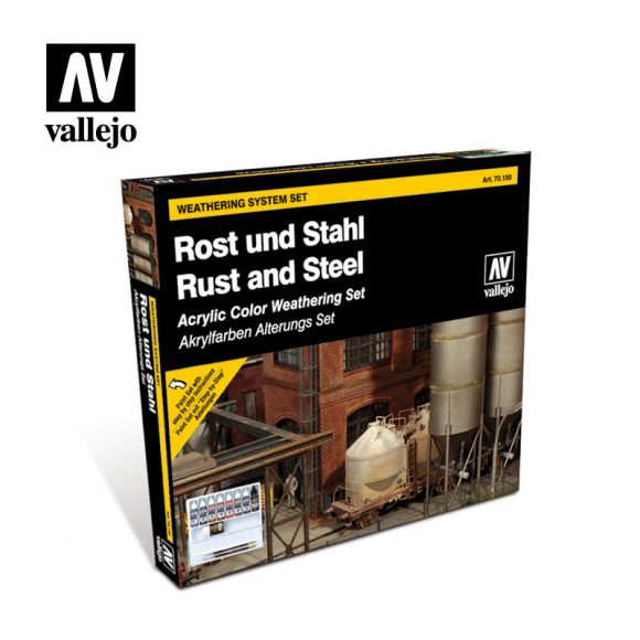 Rust and steel 70150 vallejo model color effects sets