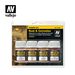 rust and corrosion vallejo pigment set 73194
