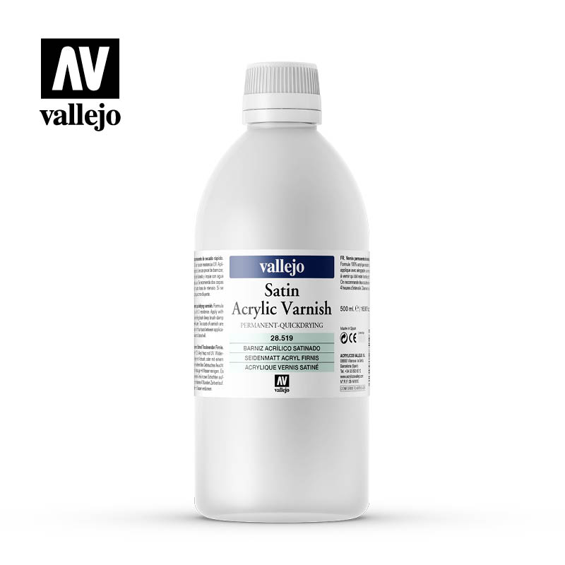 satin acrylic permanent varnish vallejo 26519 500ml