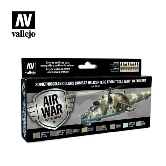 Soviet russian colors combat helicopters from coldwar to present vallejo airwar 71601