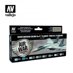 Soviet russian colors su27 flanker from 80 to present vallejo airwar 71602