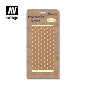 Stencil Carrotcake by vallejo Hexagones CK003