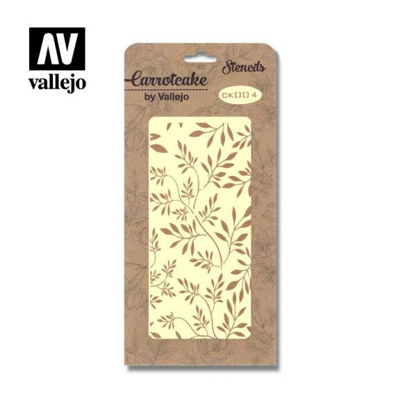 Stencil Carrotcake by vallejo Leaves CK004