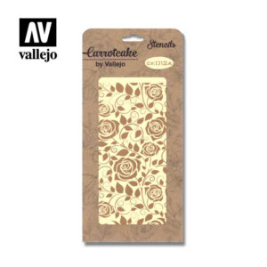 Stencil Carrotcake by vallejo Leaves and Roses CK012