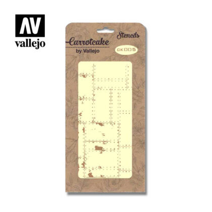 Stencil Carrotcake by vallejo Metallic Texture CK005