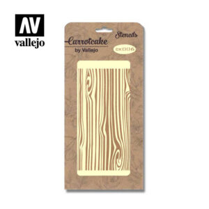 Stencil Carrotcake by vallejo Wood CK006