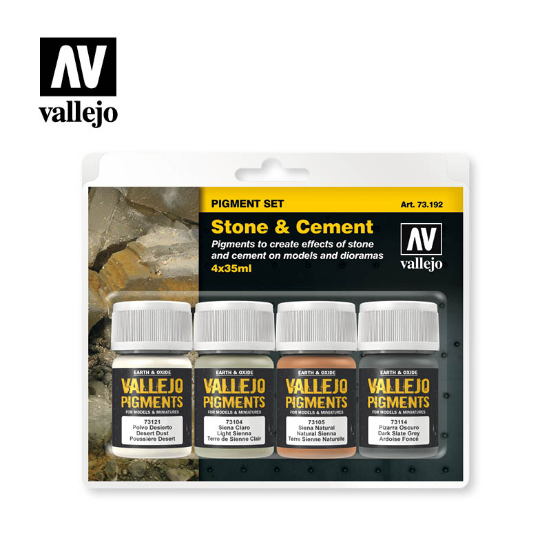 stone and cement vallejo pigments set 73192