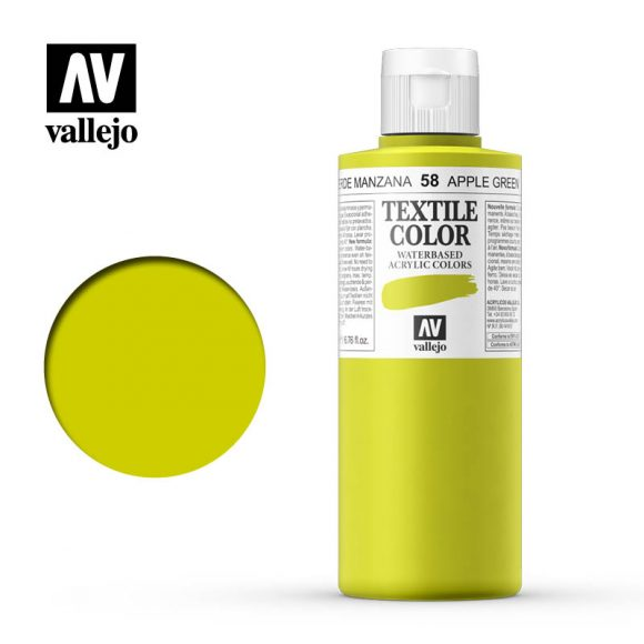 textile color vallejo apple green 58 200ml