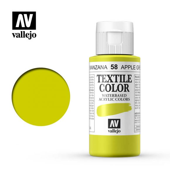 textile color vallejo apple green 58 60ml