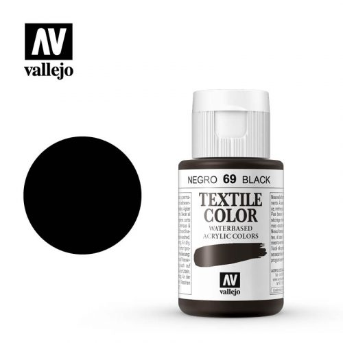 textile color vallejo black 69 35ml
