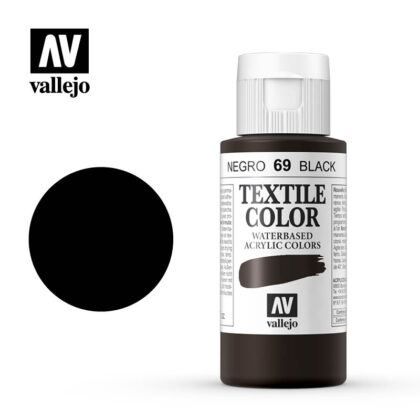 textile color vallejo black 69 60ml