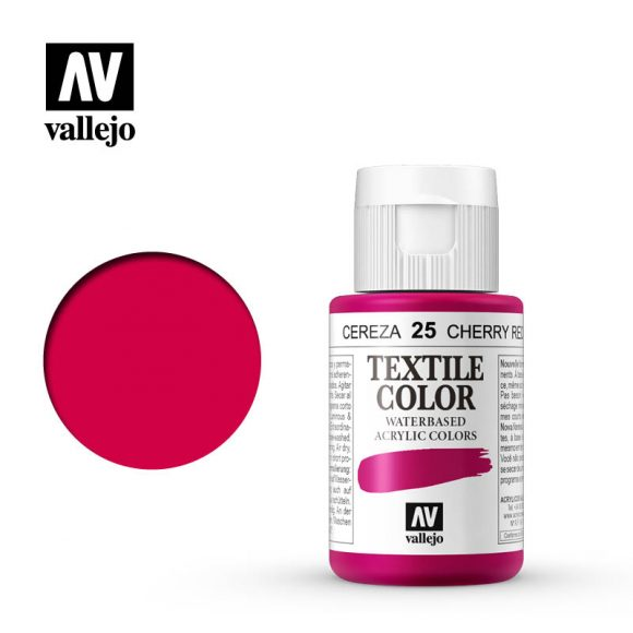 textile color vallejo cherry red 25 35ml