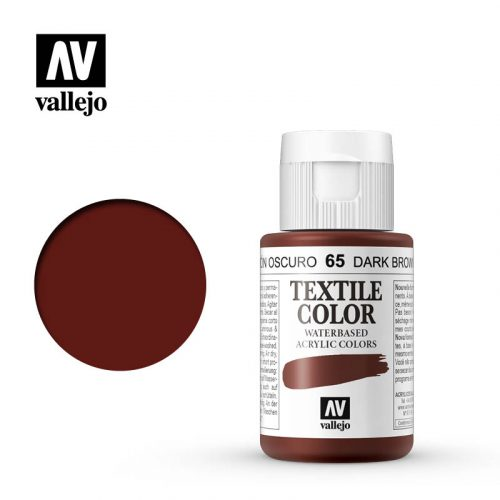 textile color vallejo dark brown 65 35ml