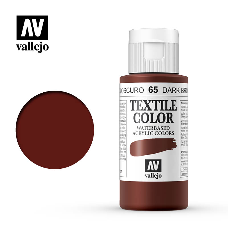 textile color vallejo dark brown 65 60ml