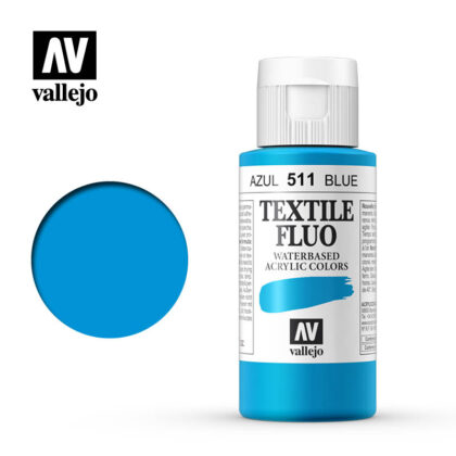 textile color vallejo fluorescent blue 511 60ml