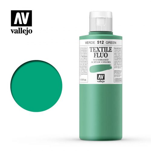 textile color vallejo fluorescent green 512 200ml