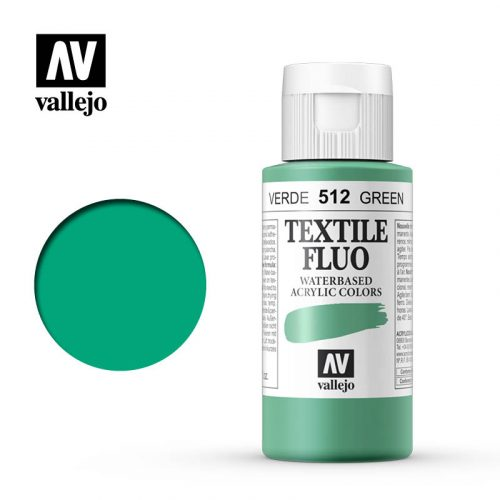 textile color vallejo fluorescent green 512 60ml