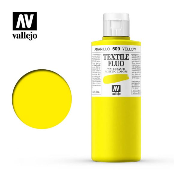 textile color vallejo fluorescent yellow 509 200ml