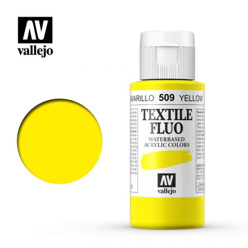textile color vallejo fluorescent yellow 509 60ml