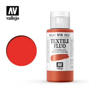 textile color vallejo fluorescentt red 510 60ml