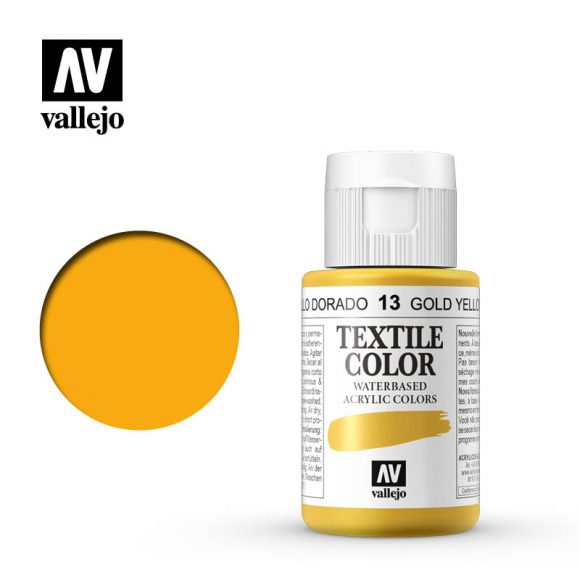 textile color vallejo golden yellow 13 35ml