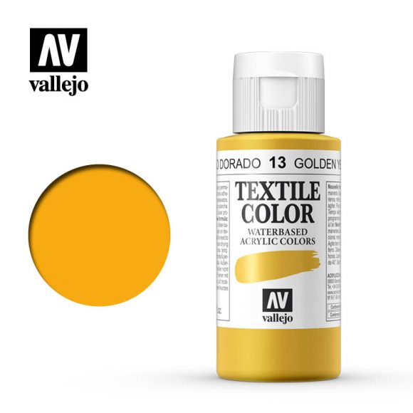 textile color vallejo golden yellow 13 60ml