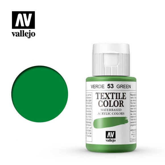 textile color vallejo green 53 35ml