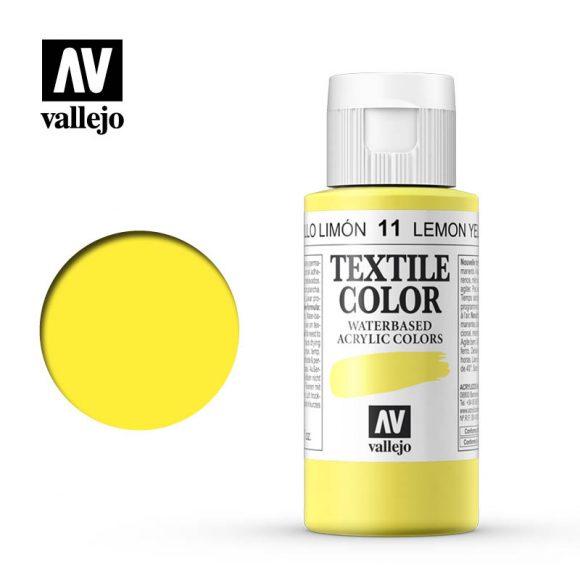 textile color vallejo lemon yellow 11 60ml