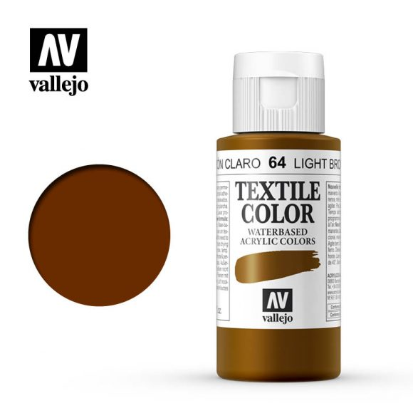 textile color vallejo light brown 64 60ml