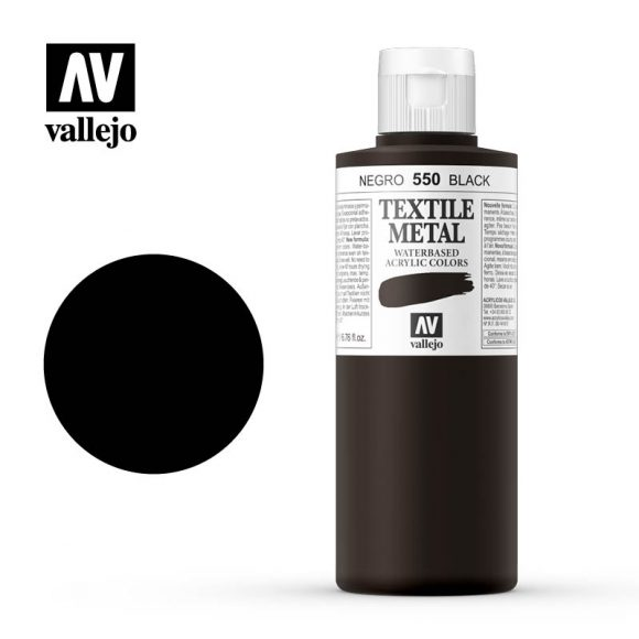 textile color vallejo metallic black 550 200ml
