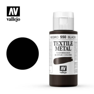 textile color vallejo metallic black 550 60ml