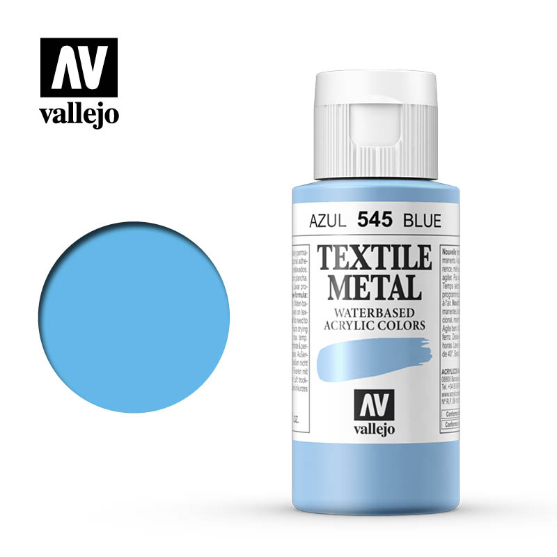 textile color vallejo metallic blue 545 60ml