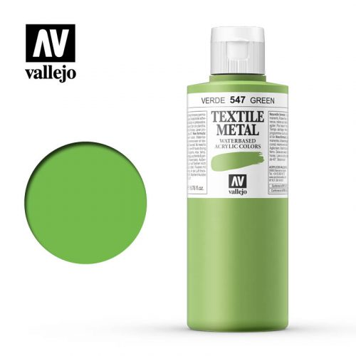 textile color vallejo metallic green 547 200ml