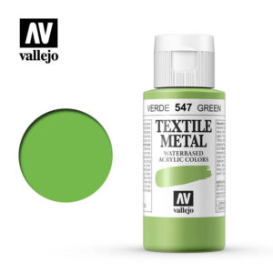 textile color vallejo metallic green 547 60ml