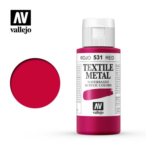 textile color vallejo metallic red 531 60ml