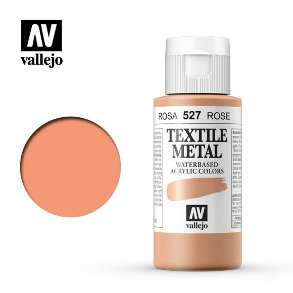 textile color vallejo metallic rose 527 60ml