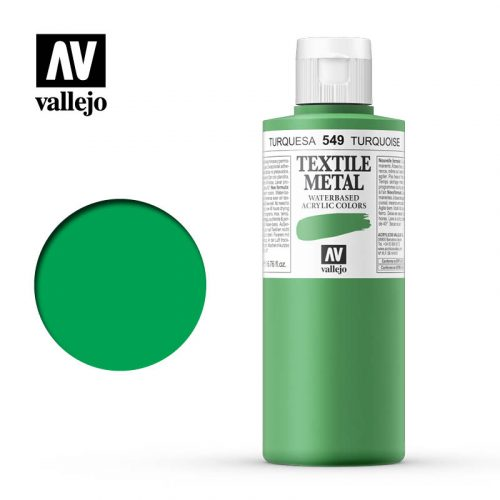 textile color vallejo metallic turquoise 549 200ml