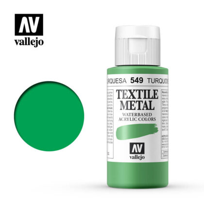 textile color vallejo metallic turquoise 549 60ml