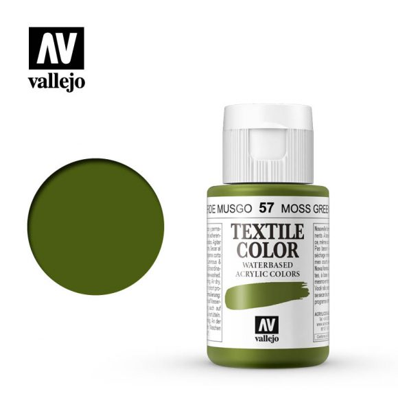 textile color vallejo moss green 57 35ml