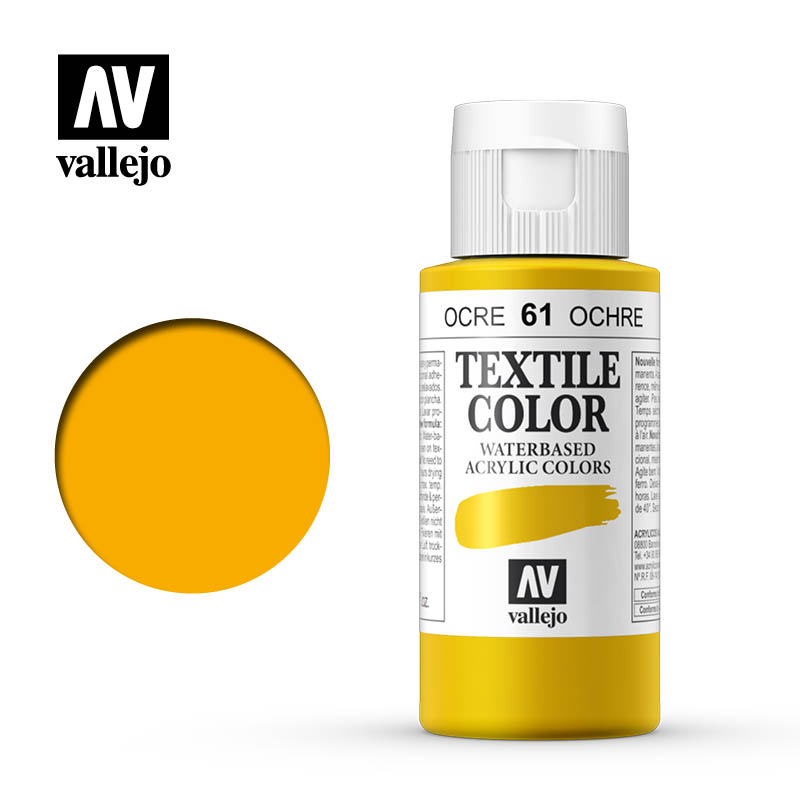 textile color vallejo ochre 61 60ml