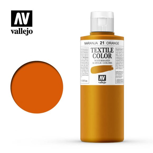 textile color vallejo orange 21 200ml