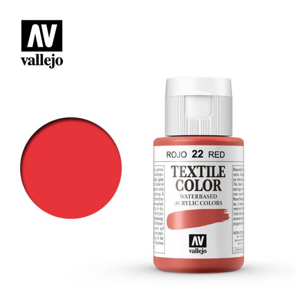 textile color vallejo red 22 35ml