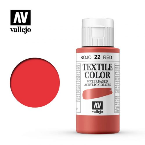 textile color vallejo red 22 60ml