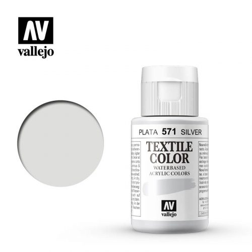 textile color vallejo silver 571 35ml
