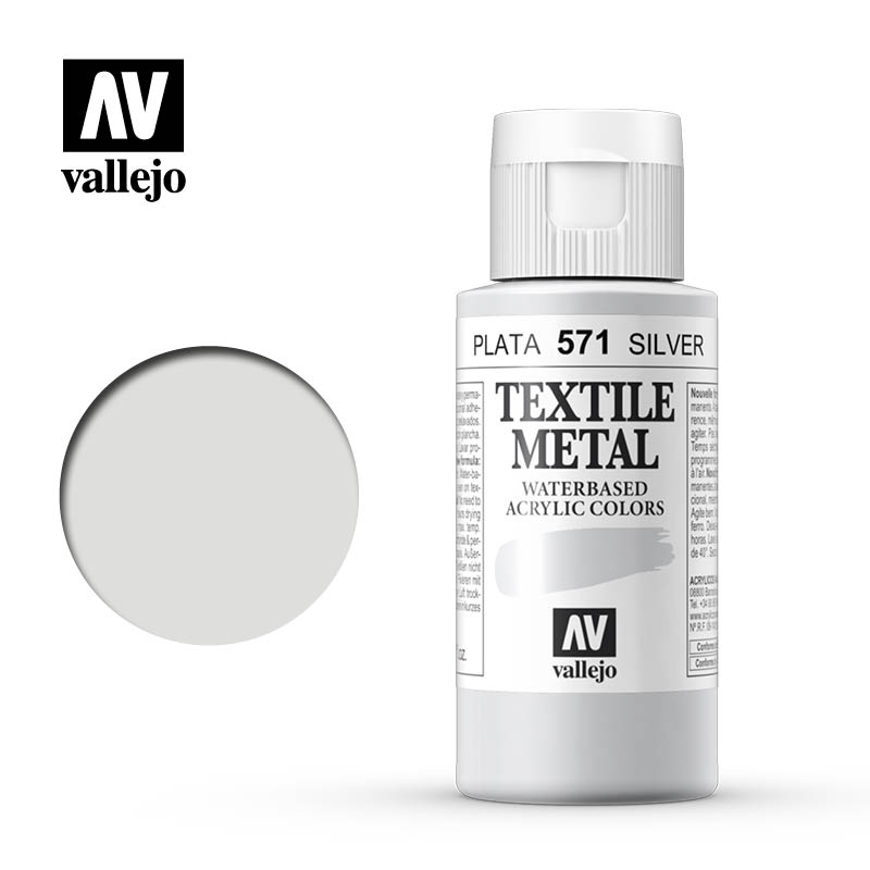 textile color vallejo silver 571 60ml