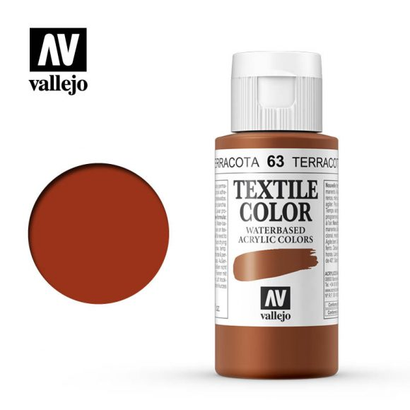 textile color vallejo terracotta 63 60ml